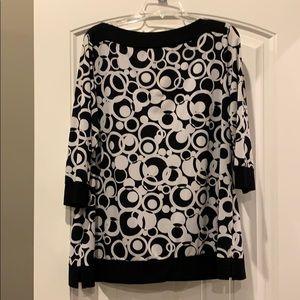 Black and white shirt